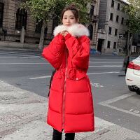 韩版孕后期加厚棉衣中长款棉袄大衣孕妇冬季宽松外套