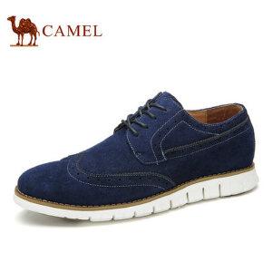 camel骆驼男鞋 新款 时尚英伦风新潮布洛克休闲皮鞋男士休闲鞋