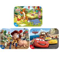 【当当自营】迪士尼拼图玩具 100片铁盒木质拼图三合一(维尼2422+赛车2427+玩具总动员2428)