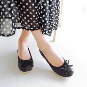 O'SHELL欧希尔新品057-1515韩版平底鞋女士豆豆鞋