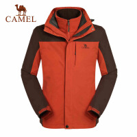 骆驼户外冲锋衣 秋冬新款男士保暖两件套 三合一男冲锋衣