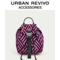 【当当超品价:127元】URBAN REVIVO2020春秋季新品青春女士配件撞色背包AY10TB5N2000