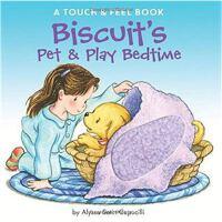 小饼干狗 英文原版 绘本汪培�E书单推荐 0-3岁 Biscuit's Pet & Play Bedtime: A Tou