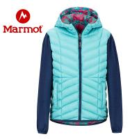 Marmot/土拨鼠2020新款户外防风防水透气保暖女童面包棉服