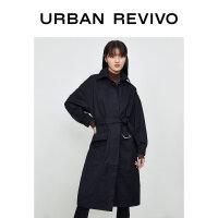UR2020冬季新品青春女装时尚荡领宽松休闲保暖外套YL37R1DN2000
