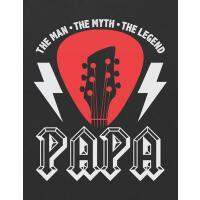 【预订】Papa the Man the Myth the Legend: Blank Guitar Tab Note