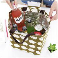 手提袋子帆布饭盒保温便当包袋 加厚带饭装午餐男女小拎包