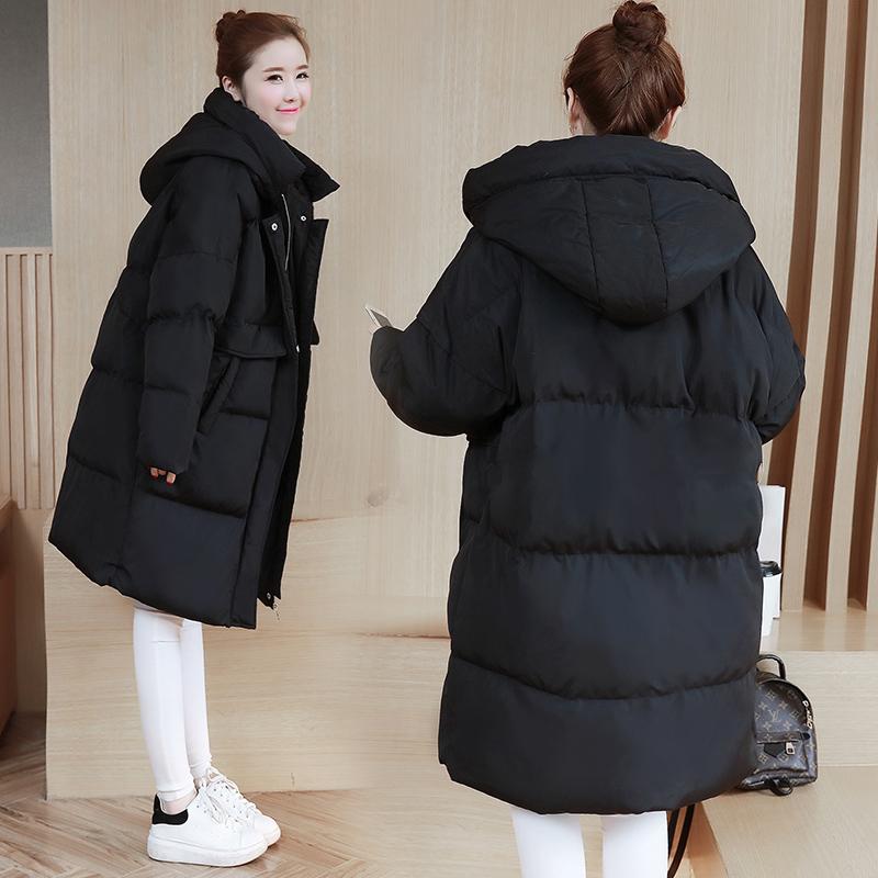 女中长款a字加厚冬装外套冬季孕妇棉衣孕后期韩版宽松棉袄