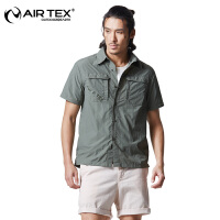 AIRTEX亚特夏季男士长袖速干衣 两截速干衬衣 舒适休闲防晒快干衣