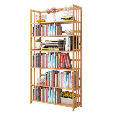 书柜 置物架 层架简约现代楠竹学生儿童书架 家庭小书架【支持*支付】