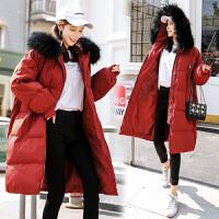 冬季加厚保暖棉袄韩版大衣加厚棉衣孕妇冬装冬孕后期宽松外套