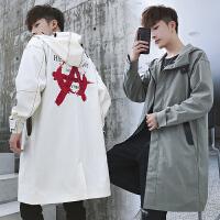 2018秋季新款外套男韩版潮流夹克男装帅气风衣中长款
