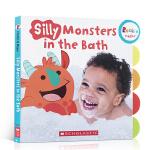 文原版绘本 Silly Monsters in the Bath蠢萌怪物洗澡 培养洗澡好习惯行为生活认知 儿童英语启蒙