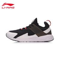 李宁休闲鞋男鞋2017新款轻便耐磨防滑反光男士运动鞋AGLM097