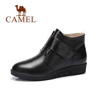 Camel/骆驼女鞋 新品 欧美风 时尚马丁靴简约魔术贴女靴