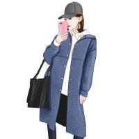 ??人字纹双面羊绒大衣女中长款2018新款流行加厚呢子毛呢外套秋冬季V18W001