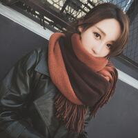 新品围巾女秋冬季韩版百搭长款加厚披肩两用学生保暖针织毛线围脖冬天