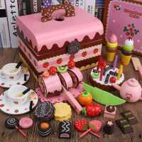 �和�切水果玩具蔬菜切切�纺信�孩�^家家切蛋糕玩具套�b2-3-6周�q