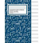 预订 Manu* Paper Notebook: Musical Notes Blue Cover, 12 Staff