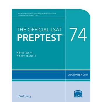 【预订】The Official LSAT Preptest 74: (dec. 2014 LSAT) 预订商品,需要1-3个月发货,非质量问题不接受退换货。