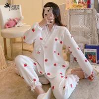 月子服春秋纯色空气棉产后加厚保暖孕妇睡衣哺乳喂奶10月份11冬季