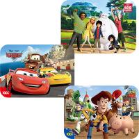【当当自营】迪士尼拼图玩具 100片铁盒木质拼图三合一(赛车2427+玩具总动员2428+超能陆战队2431)