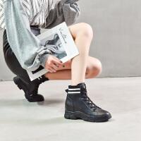 19珂卡芙冬季新款【真皮帮面】潮流时尚马丁靴内增高舒适女靴