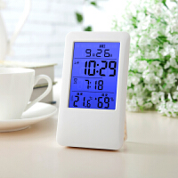 科舰MC501家用电子温湿度计婴儿房温度计支架小闹钟带夜光温度表包邮