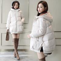 冬季外套宽松短款棉袄潮孕妇冬装连帽加厚怀孕后期棉衣袄