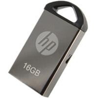 [大部分地区包邮] 惠普(HP)U盘 v221w 16G气质小U 金属银色16GB *佳品