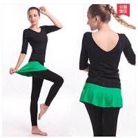 瑜伽服套装棉感运动服时尚显瘦含胸垫美腿两件套 可礼品卡支付