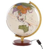 【TH】32CM政区中,英文仿古灯光地球仪(木座合金架)11-32-21 北京博目地图制品有限公司 测绘出版社 978