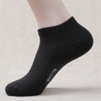 男士棉袜子 薄休闲短袜 纯色提花浅口运动男袜低帮船袜J5200 全色 男士40-44均码