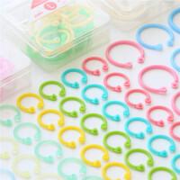 巨门活页本盒装彩色随意圈 活页圈小号大号创意收纳圈装订圈活页环