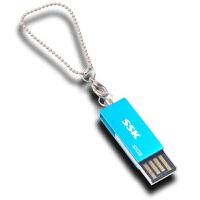 【大部分地区包邮】飚王(SSK)诱惑U盘(SFD042) 32G(蓝色)防水防尘全金属优盘