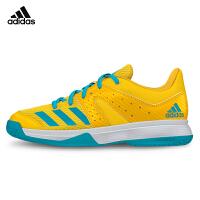 阿迪达斯adidas羽毛球鞋儿童青少年羽鞋大童休闲运动鞋