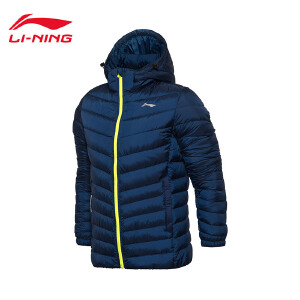 李宁短羽绒服男士训练保暖防风冬季轻质90%白鸭绒运动服AYMM201