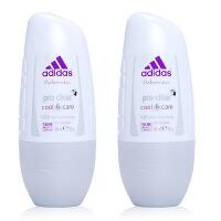 阿迪达斯(Adidas) 女士走珠香水香体止汗露液滚珠50ml 两支装净怡Clear 5183