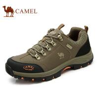 camel骆驼 秋冬新款户外男鞋 防滑耐磨徒步鞋 低帮减震登山鞋