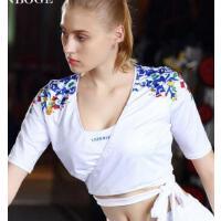 简约时尚 健身短外套女士运动透气中袖时尚速干跑步瑜伽舞蹈披肩上衣 支持礼品卡