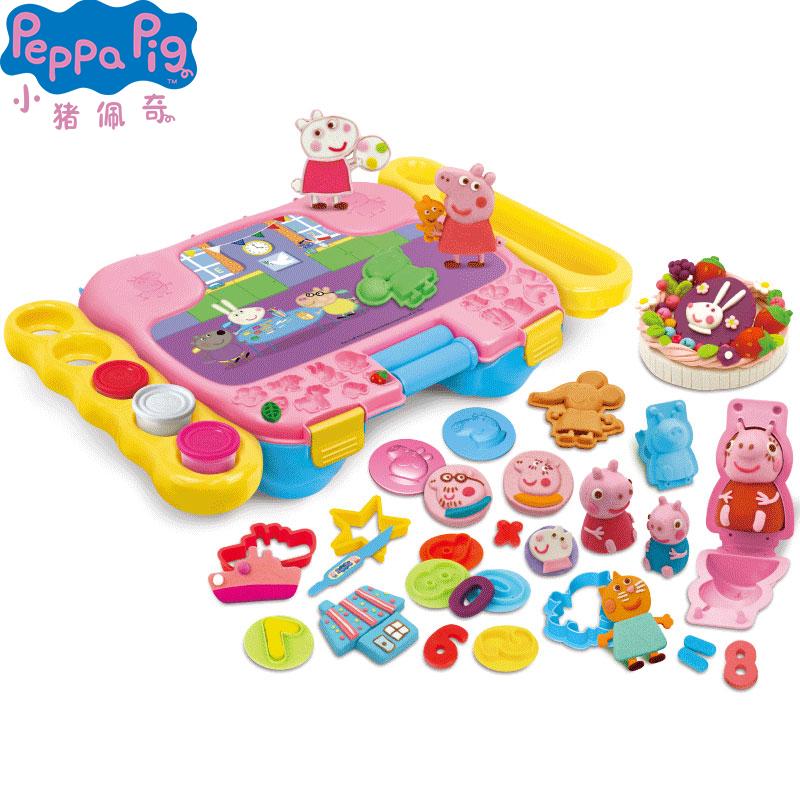 小猪佩奇儿童玩具男女孩益智过家家橡皮泥彩泥手工diy制作3-6周岁