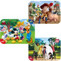 【当当自营】迪士尼拼图玩具 100片铁盒木质拼图三合一(米奇2420+玩具总动员2428+超能陆战队2431)