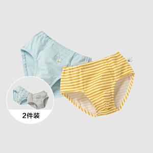 【99选3】迷你巴拉巴拉男童三角内裤年冬装幼童宝宝卡通内裤2条装组合