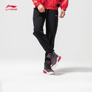 李宁运动裤男士新款运动生活休闲裤子男装梭织收口春季运动裤AYKM069