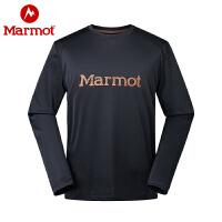 Marmot/土拨鼠秋冬款男士轻量透气吸湿速干长袖T恤