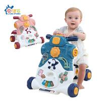 婴儿学步车手推车玩具宝宝多功能音乐钢琴6-7-18个月可调速助步车