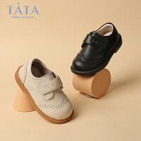 【券后价:117.7元】他她Tata童鞋婴童学步鞋秋季防滑小公主皮鞋柔软舒适女童宝宝鞋幼童鞋