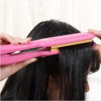 春笑牌 新款直发器烫发器 神奇卷发棒 卷发器 调温直发器不伤发神器 玉米烫电夹板 ZF05 红色