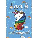 预订 I am 5 and Magical: Cute unicorn happy birthday journal