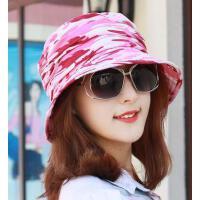 男女通用户外棉质迷彩渔夫帽盆帽多功能太阳帽防晒旅游帽子百搭情侣帽沙滩帽